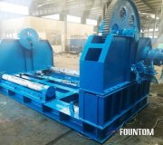 Hydraulic spooling machine